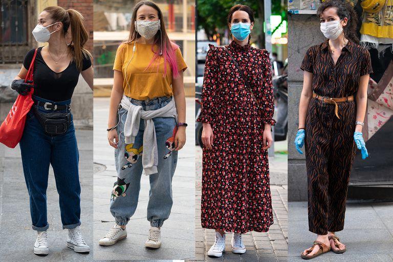 Looks postcuarentena. El street style en Madrid con algunas tendencias polémicas