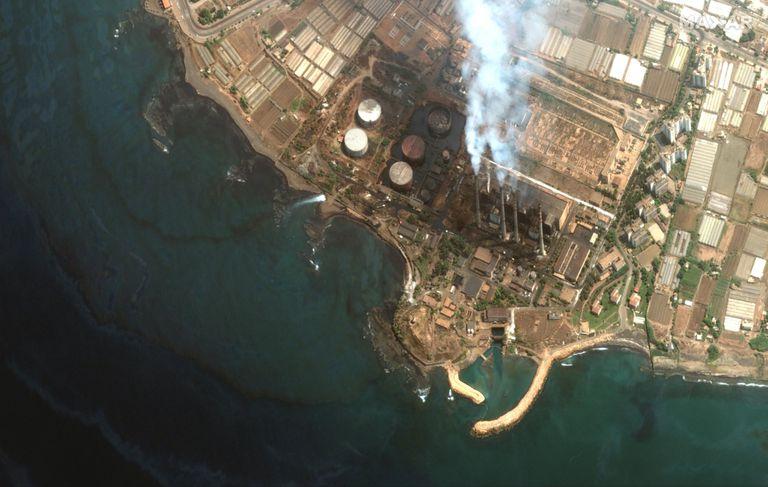 El derrame de petróleo de la planta de energía de Baniyas