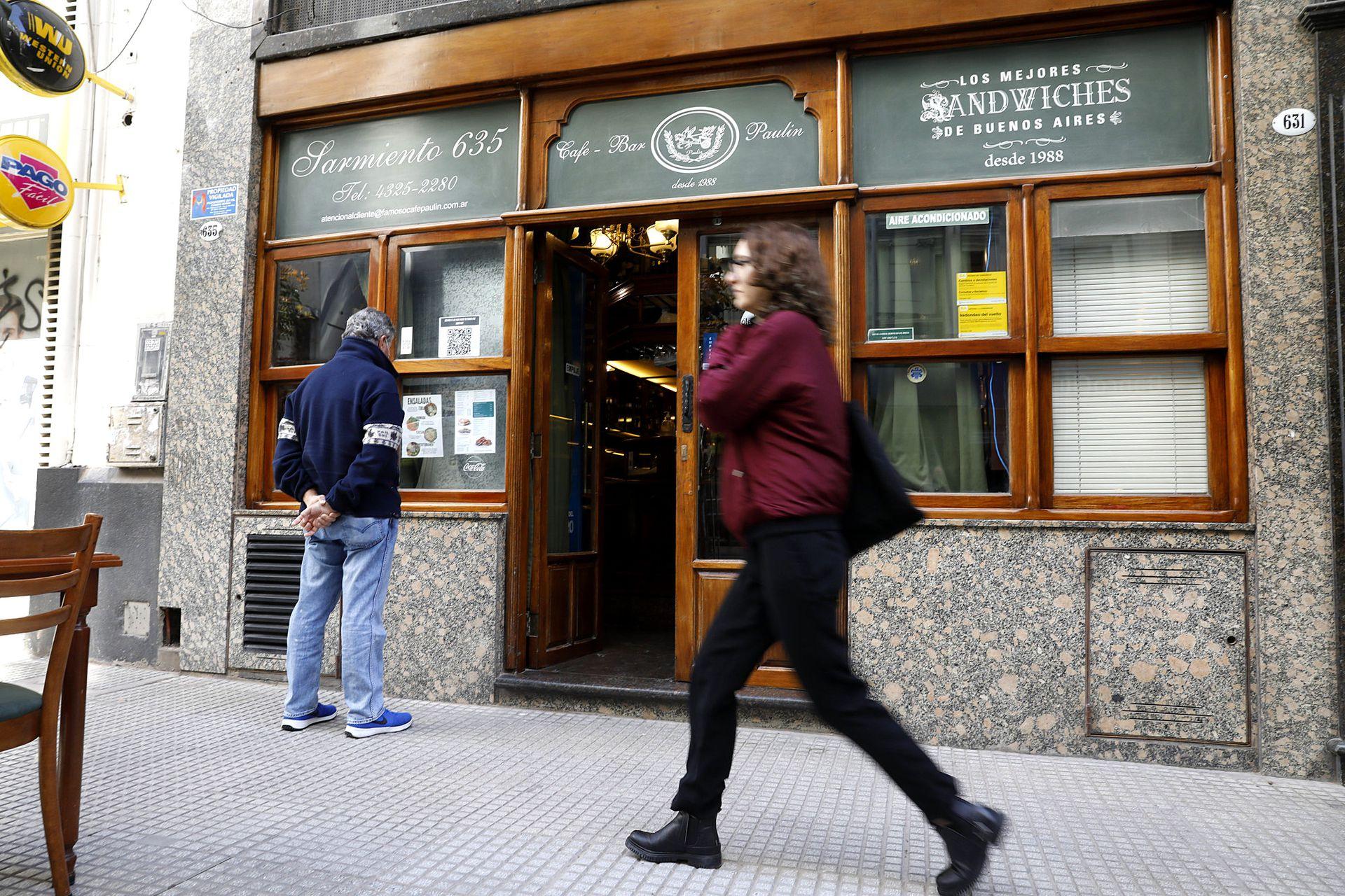 El café Paulín, ubicado en Sarmiento 635