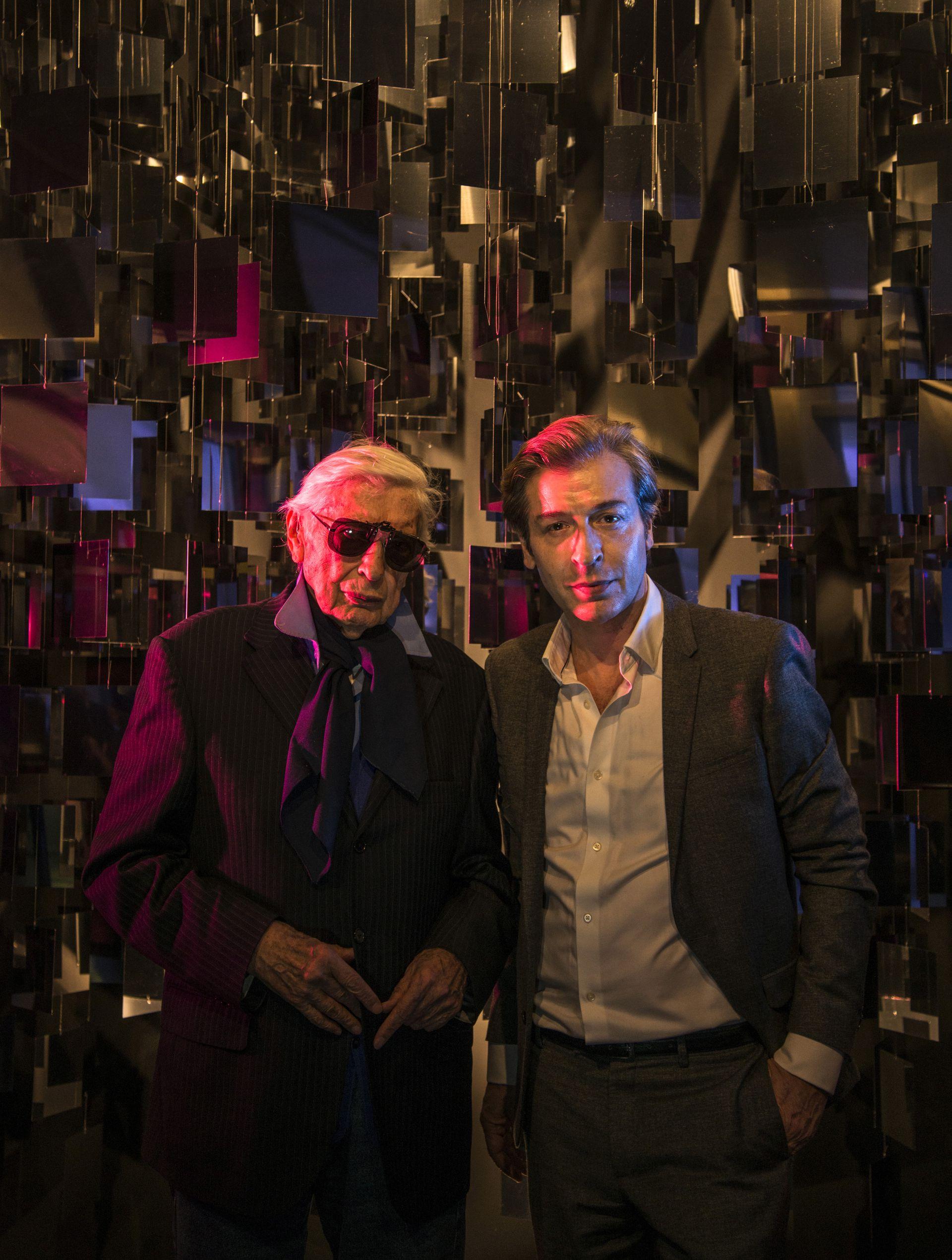 Julio Le Parc y su hijo Yamil, director artístico del homenaje