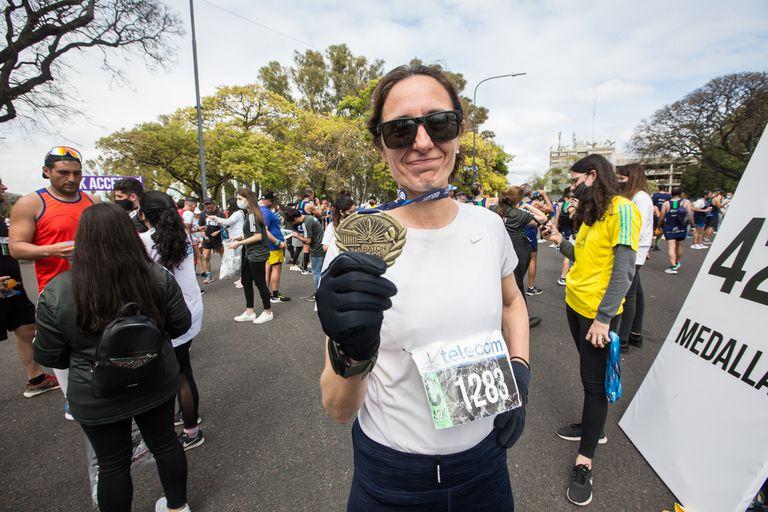 Maraton y Media Maraton de la Ciudad de Buenos Aires. Ines Capdevila de La Nación