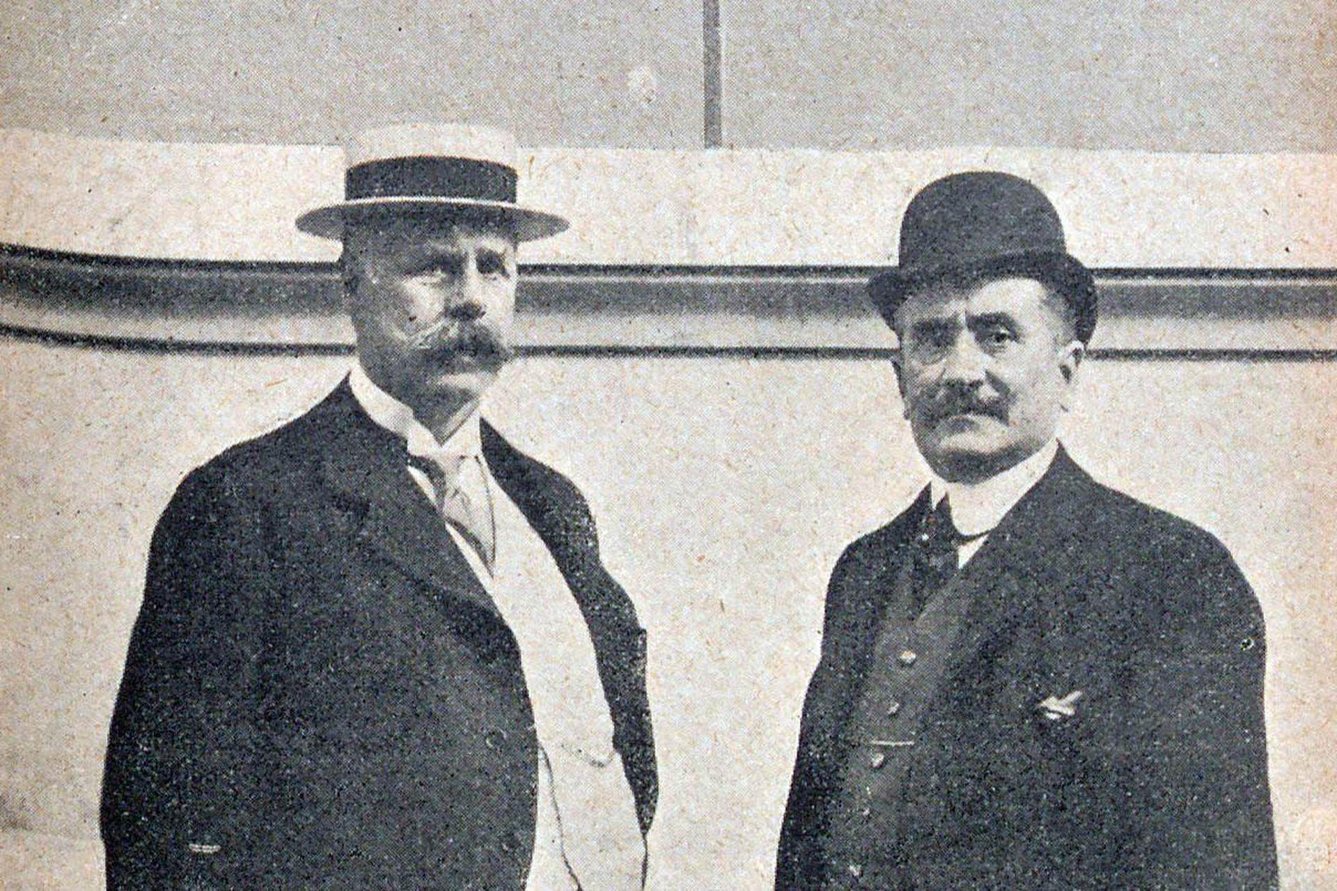 Alfredo H. Gath y Lorenzo Chaves en 1908.