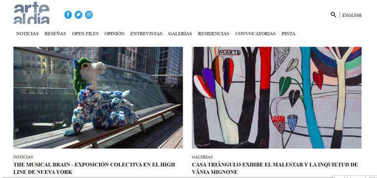 El portal de artealdia.com apuesta a la variedad de formatos, contenidos y disciplinas para hacer más visible la producción de artistas, galerías, curadores e instituciones de la región