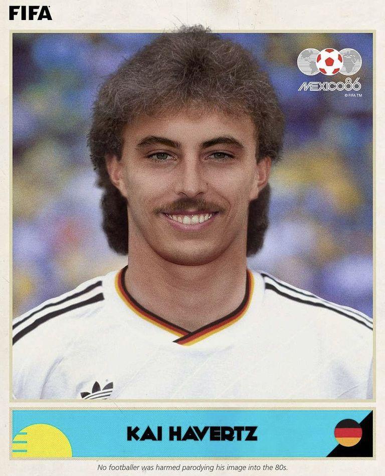 Así hubiese lucido Havertz en el '86, según la FIFA