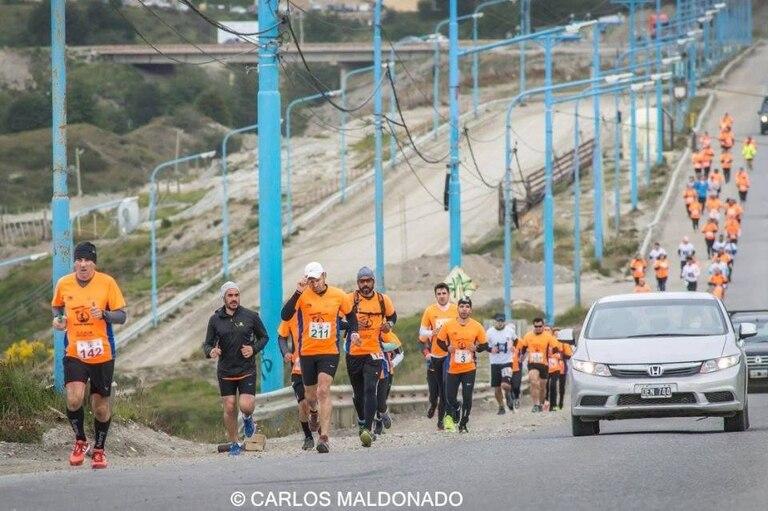 Primeros kilómetros de Maratón Glaciar Martial