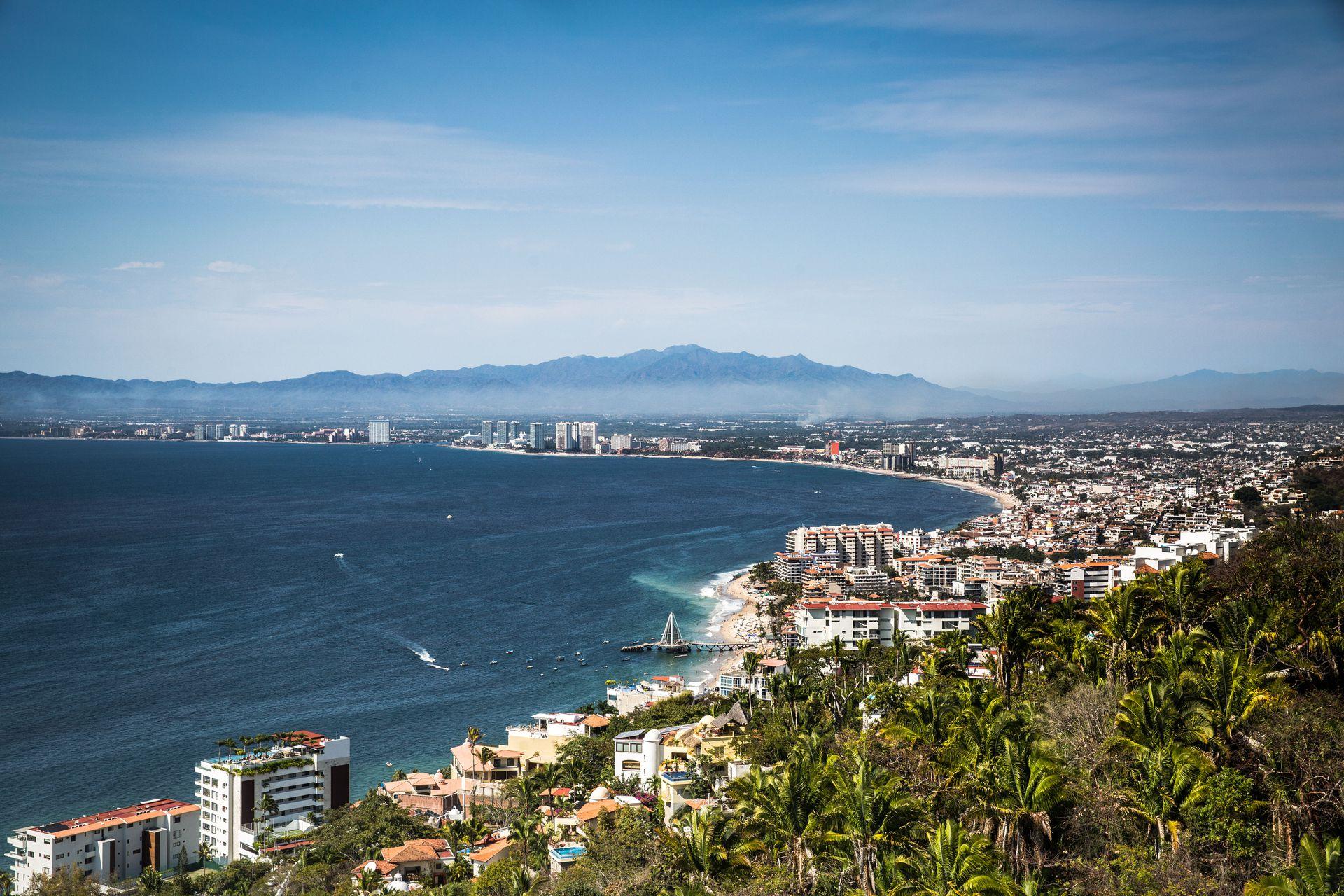 Vista de la Bahía de Banderas, Puerto Vallarta.