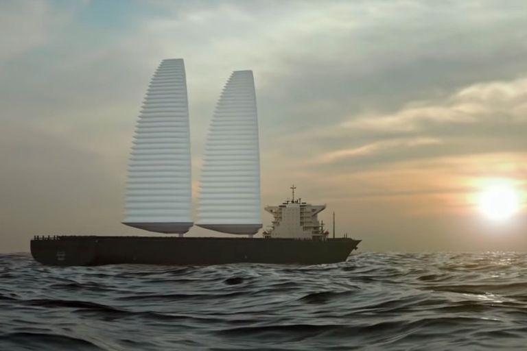 El sistema de velas permitiría reducir un 20 por ciento el consumo de combustible, y Michelin planea comenzar a probar en 2022 este prototipo en un buque mercante