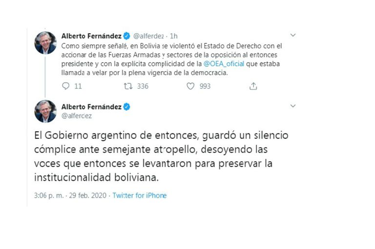 Fernández defendió la legitimidad de la reelección de Evo Morales en Bolivia