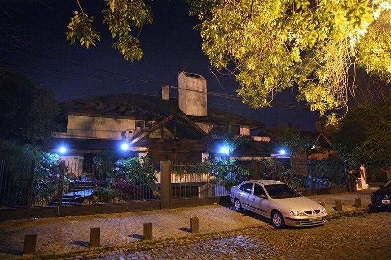 La casa de San Isidro del exjefe del Ejército César Milani, que fue blanco de un robo, el martes después del mediodía