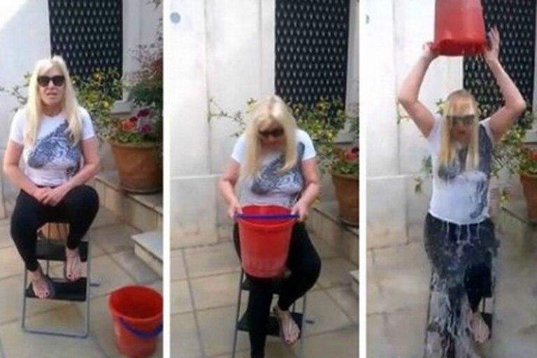 Susana Giménez fue una de las que se sumó al Ice Bucket Challenge, una campaña para apoyar la investigación sobre la esclerosis lateral amiotrófica