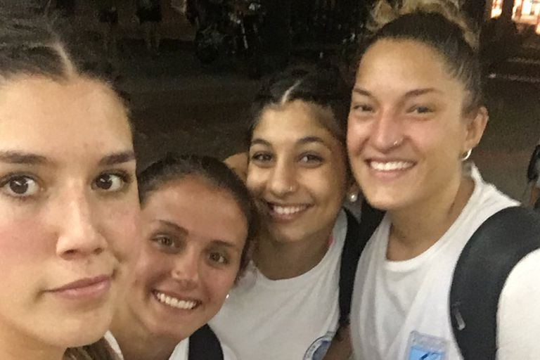 Giuliana Gavilán se lastimó un ojo en el gimnasio de pesas del Cenard