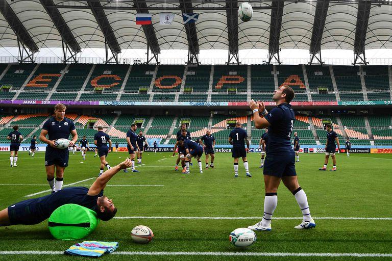 El entrenamiento del equipo escocés en Shizouka