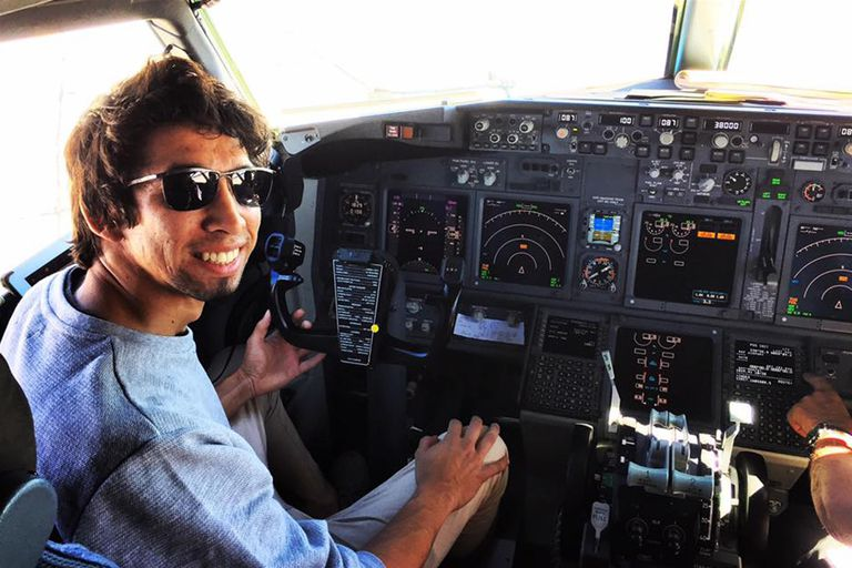 Lenard Ibáñez, sobreviviente del accidente aéreo ocurrido en abril pasado en la Península Valdés, provincia del Chubut