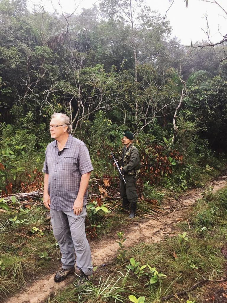 Anderson, en Yari, durante el cese de fuego de 2016