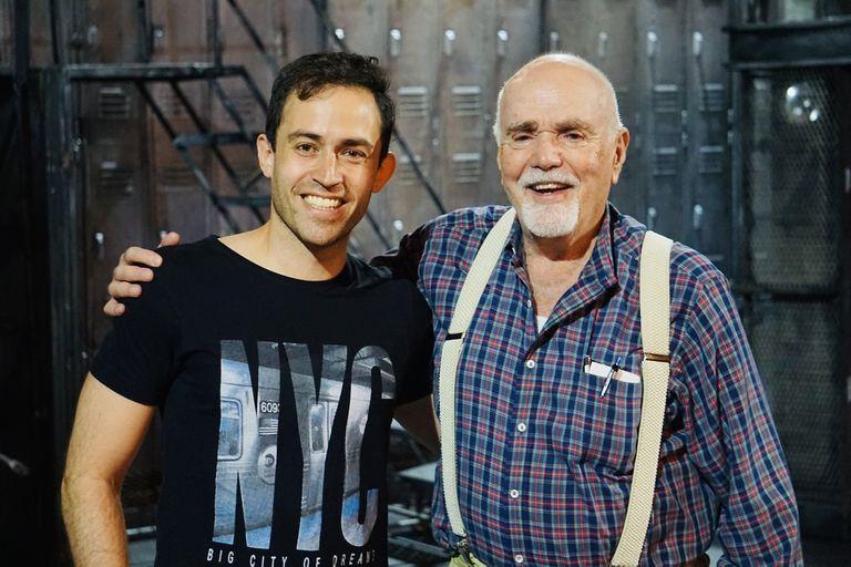 Rodolfo Santamarina, junto a David De Silva, creador de la película y el musical Fama