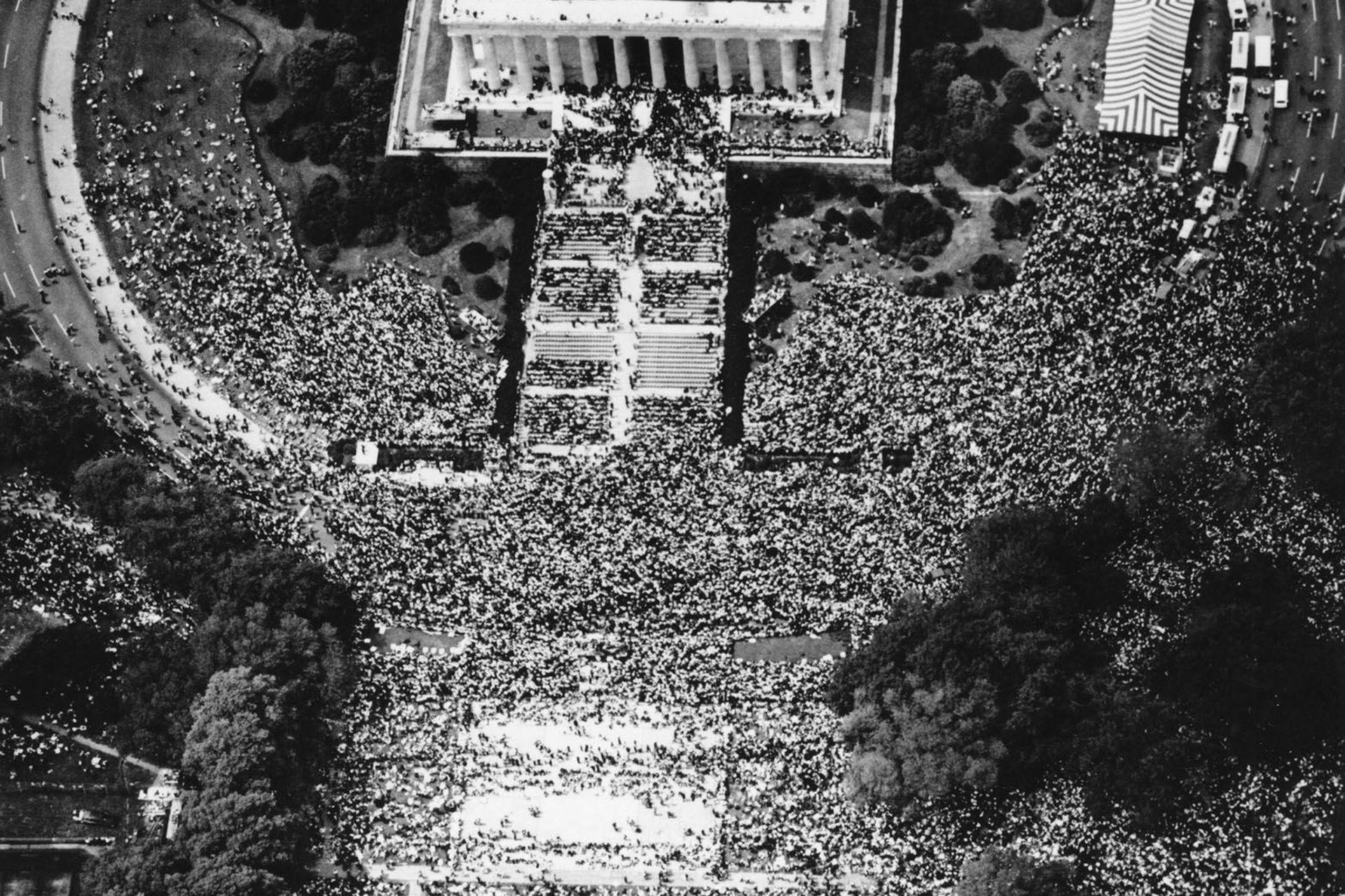 Más de 250.000 personas se acercaron al Capitolio para escuchar su histórico discruso