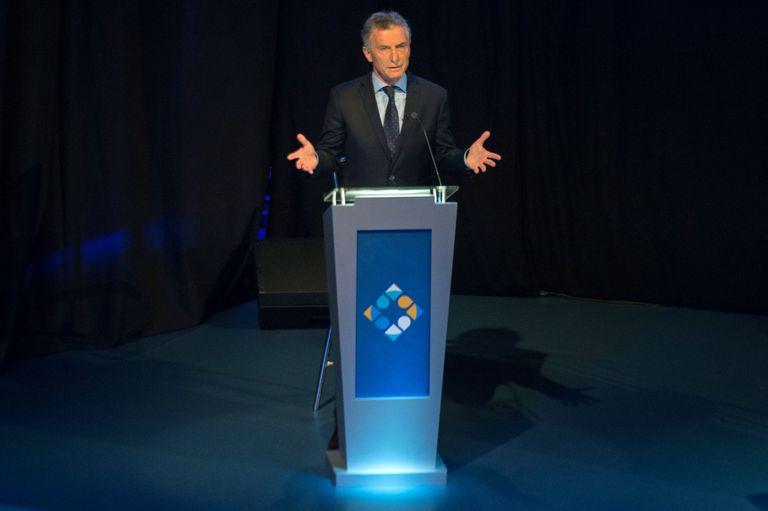 Mauricio Macri en una de sus intervenciones
