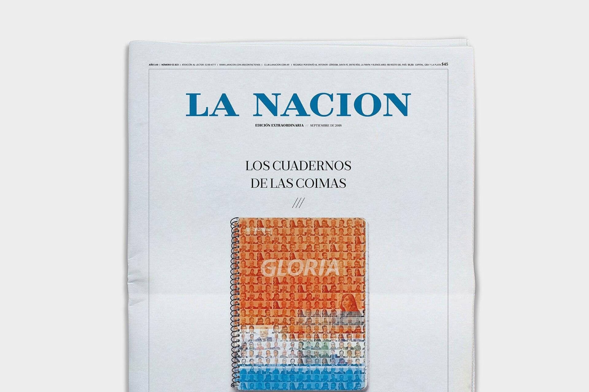 LA NACION se lució con sus ediciones sobre los cuadernos de las coimas