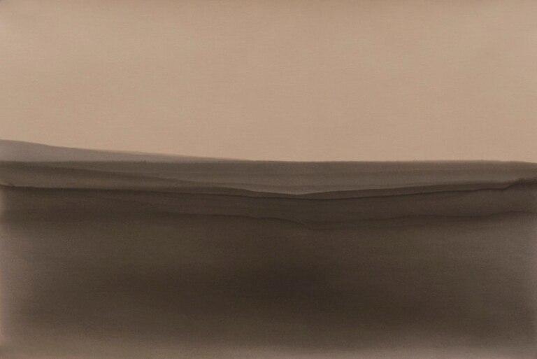 """Sin título, de la serie """"Inmersiones"""". Papel fotográfico velado, parcialmente revelado y estabilizado, 2015/2016"""