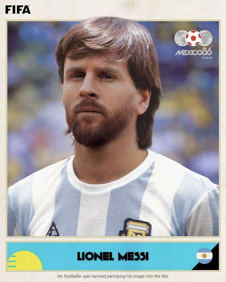 Así hubiese lucido Messi en el '86, según la FIFA