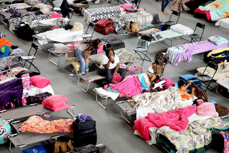 Estudiantes evacuados en Nueva Orleans