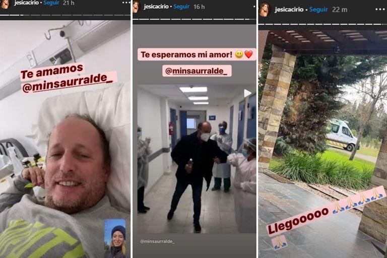 Jésica Cirio compartió su alegría por el regreso a casa de Martín Insaurralde