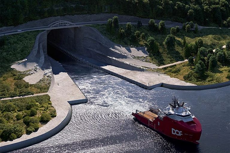 El túnel para barcos en Noruega ha sido planeado durante décadas