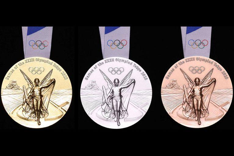Las medallas de oro, plata y bronce formaron parte de una campaña sustentable basada en la recuperación de los componentes de desechos electrónicos