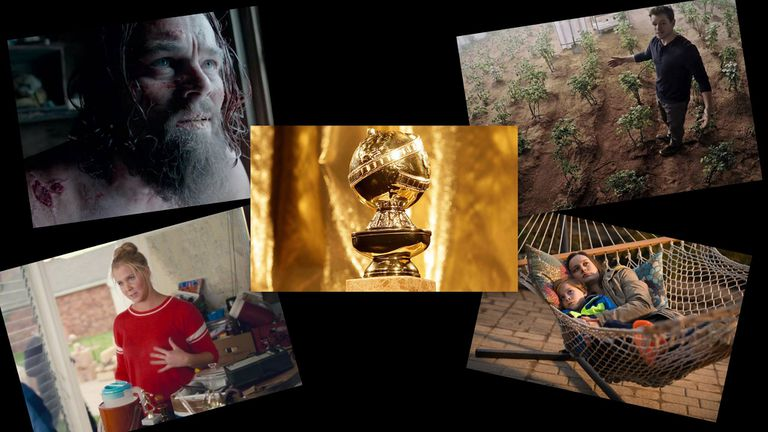 Los favoritos para alzarse con el Globo de Oro el 10 de enero: Leonardo DiCaprio, Matt Damon, Amy Schumer y Brie Larson