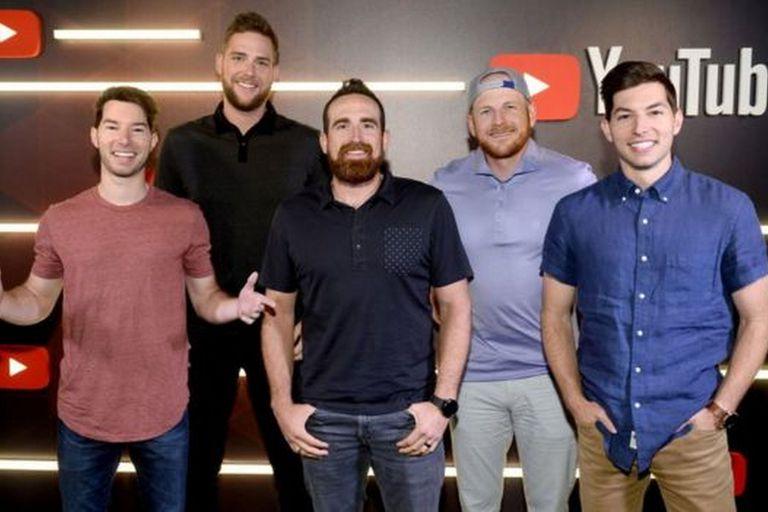 Dude Perfect, creado por cinco amigos, es el segundo canal con más ganancias de 2019