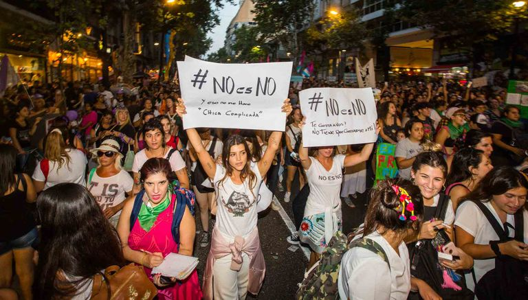 "Calu Rivero, en la marcha del 8M: ""No es no"""
