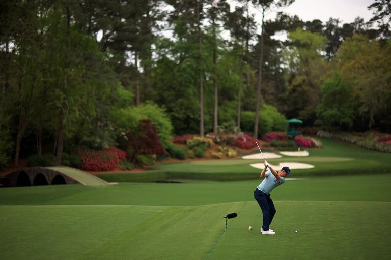 Una postal idílica del Masters, en el Augusta National Golf Club.