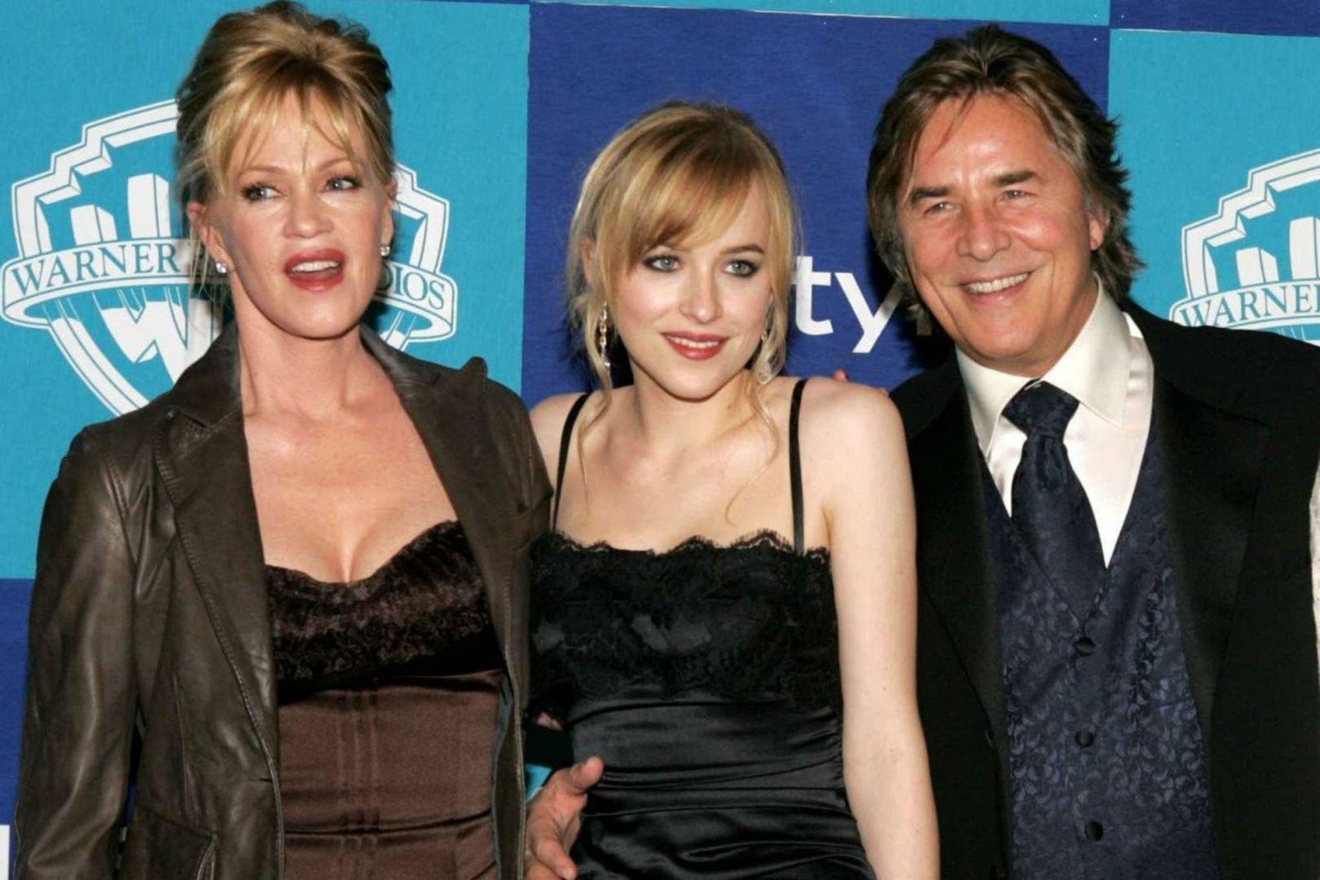 Melanie Griffith y Don Johnson junto a su hija Dakota