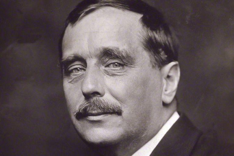El escritor británico H. G. Wells