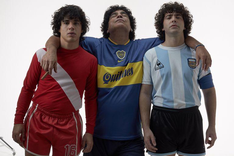 La nueva serie sobre Maradona: tres actores cuentan cómo fue ponerse en la piel del 10