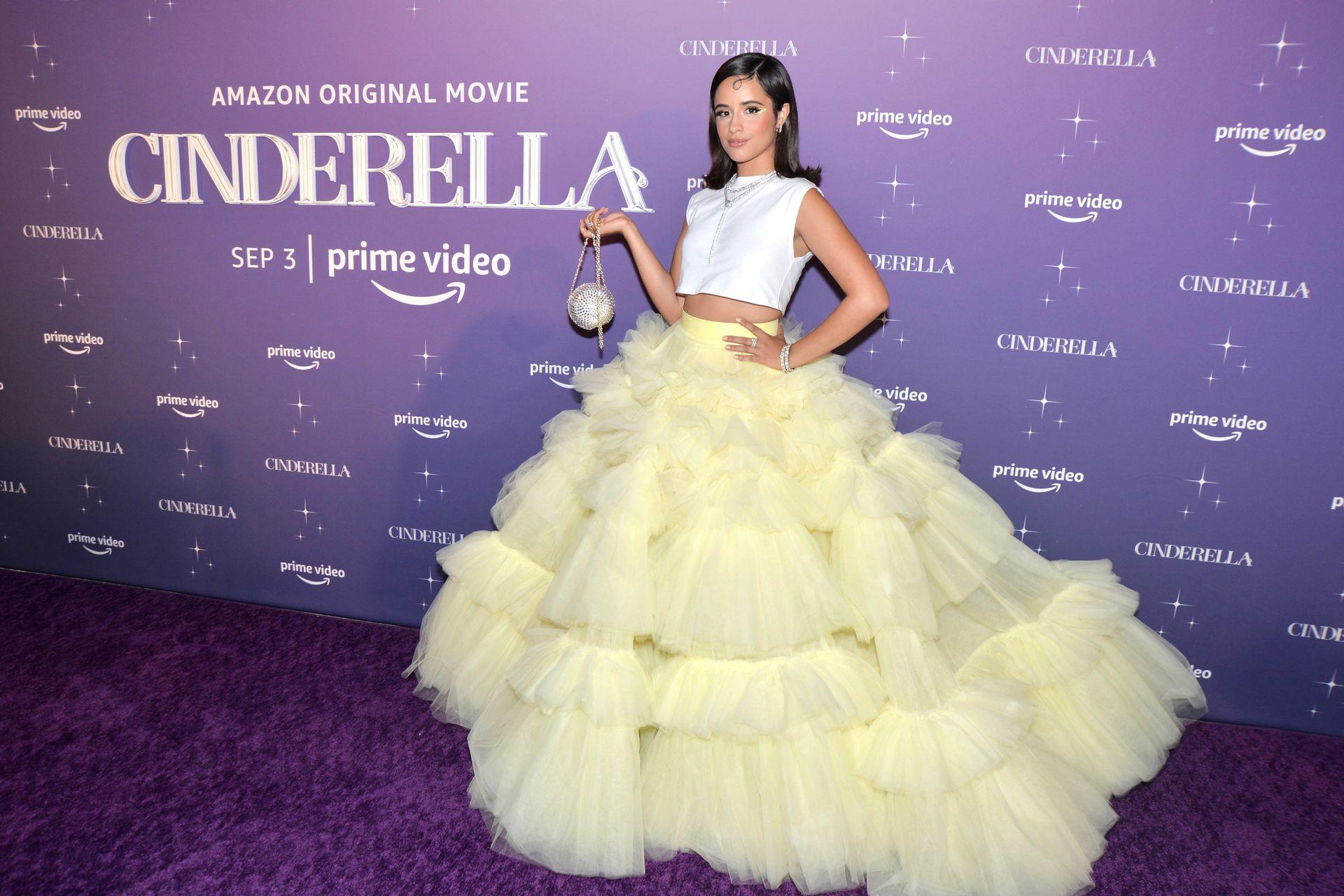 Camila Cabello en la proyección de Cenicienta