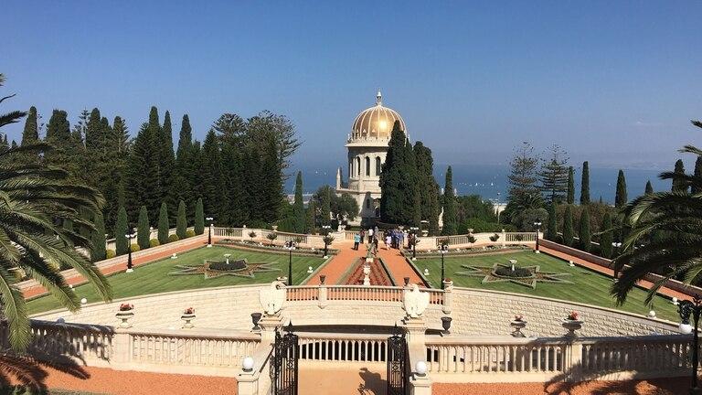 Los jardines Bahaí, en Haifa, una de las principales atracciones