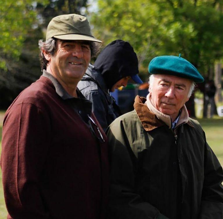 Marcos Uranga (derecha), junto con su cuñado, Rodrigo Rueda. En 1978 ganaron el primer Mundialito