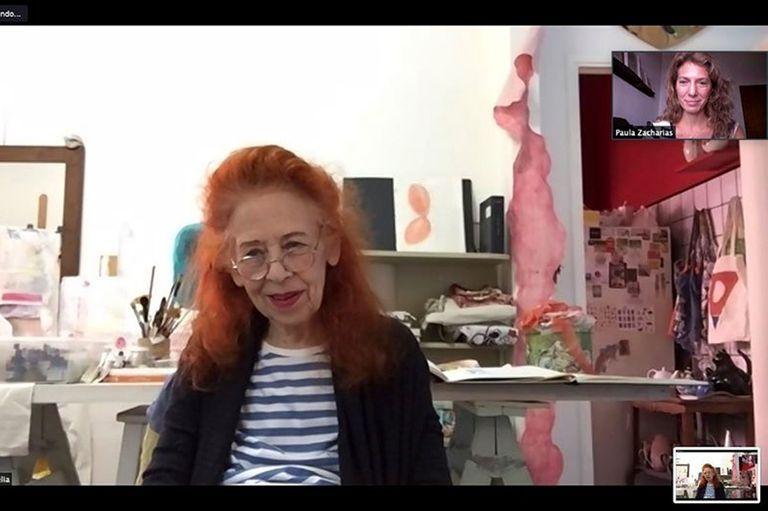 Delia Cancela fue la primera entrevistada del nuevo ciclo Artista de entrecasa