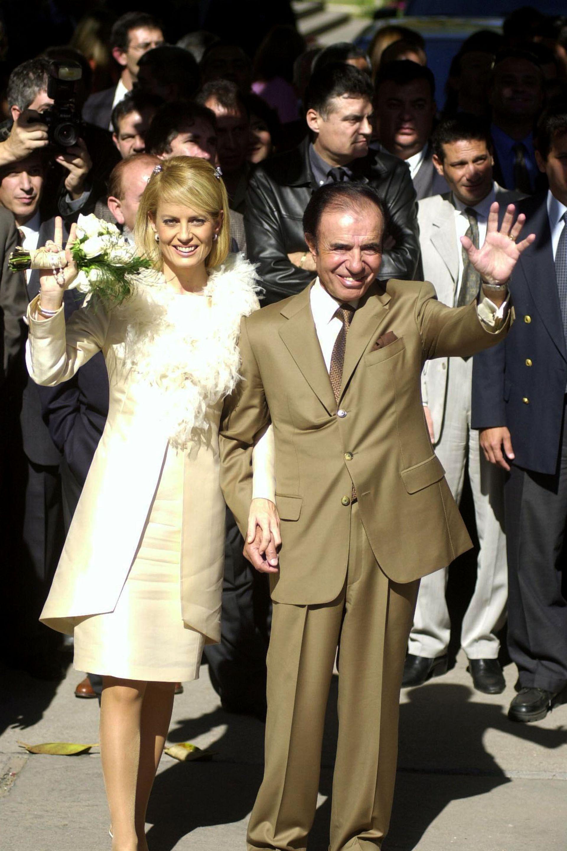 El casamiento de Carlos Menem con Cecilia Bolocco, en La Rioja, el 26 de mayo de 2001
