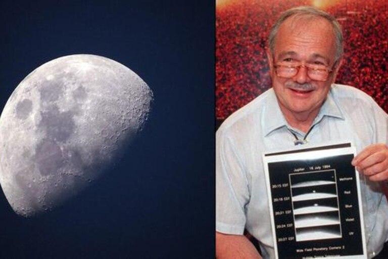 El ingeniero geólogo Eugene Merle Shoemaker se convirtió, en 1998, en el primer hombre cuyas cenizas fueron esparcidas fuera de la Tierra