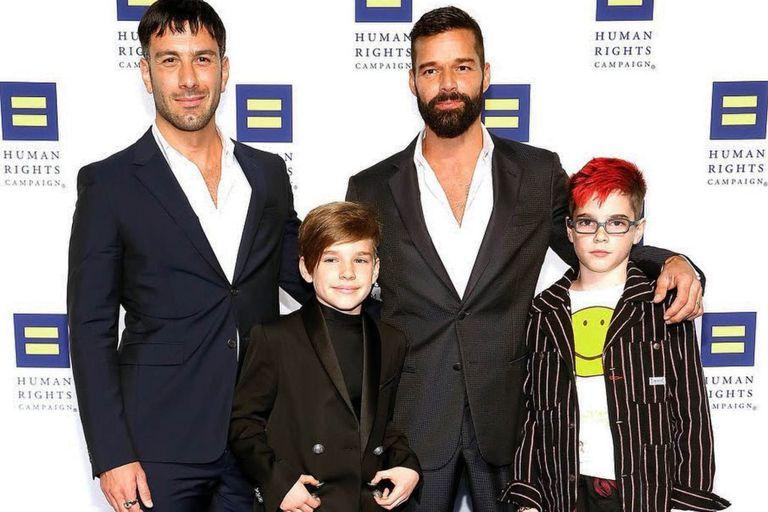La dulce foto de Ricky Martin y uno de sus hijos que Instagram censuró