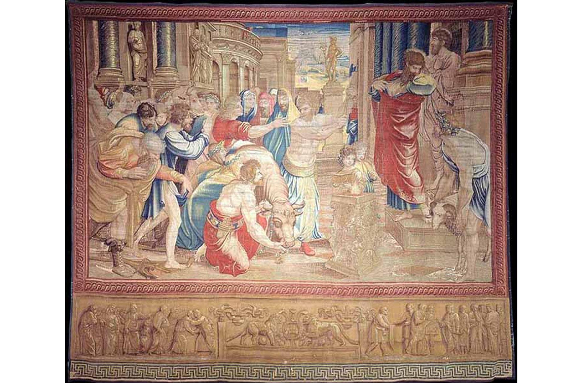 """""""El sacrificio de Listra"""" es uno de los tapices que se podrán ver en la Capilla."""