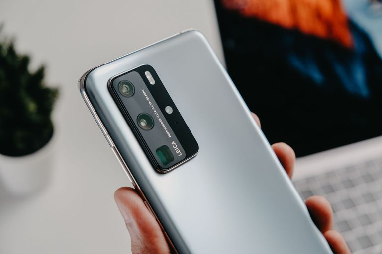 El bloque de cámaras de un Huawei P40