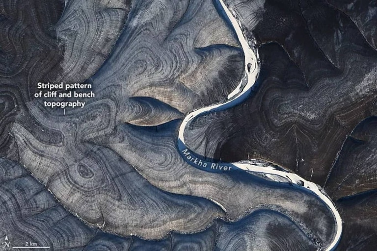 La singular topografía en esa región del ártico siberiano llamó la atención de los científicos, que buscan las explicaciones en los procesos de congelamiento y deshielo del suelo del lugar