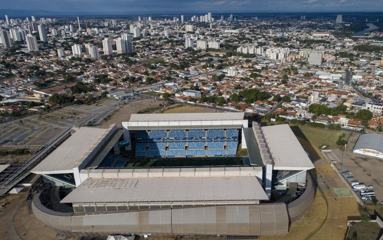 El Arena Pantanal en Cuiabá, escenario del choque entre Colombia y Ecuador