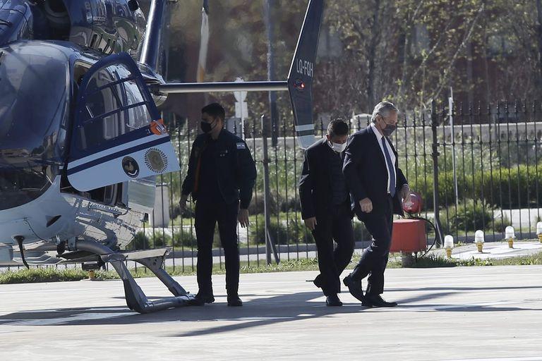 La llegada del presidente Alberto Fernández a la Casa Rosada