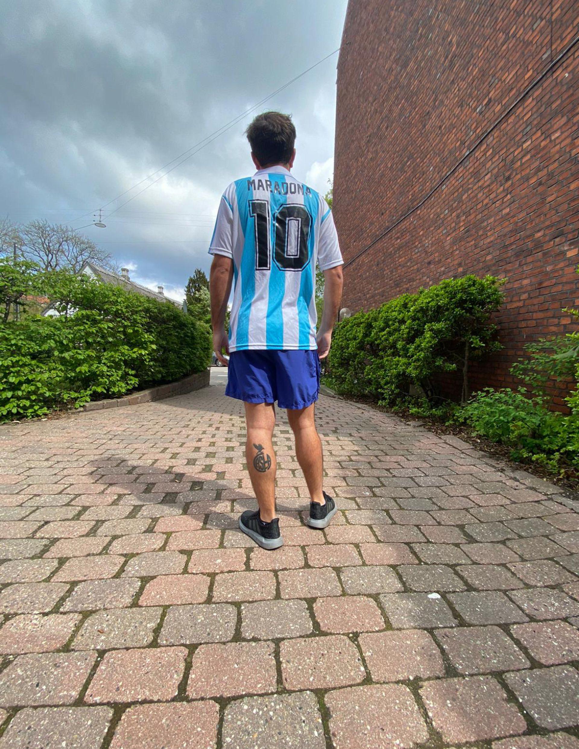 Un argentino en las calles danesas.