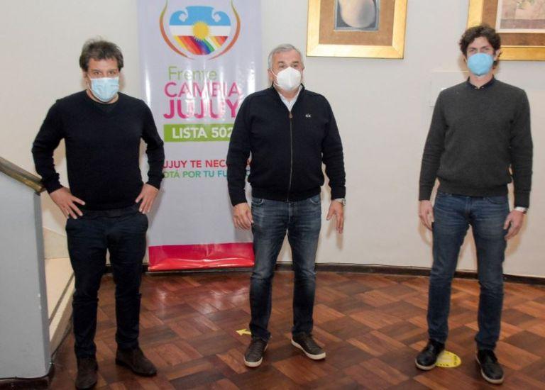 Facundo Manes, Gerardo Morales y Martín Lousteau