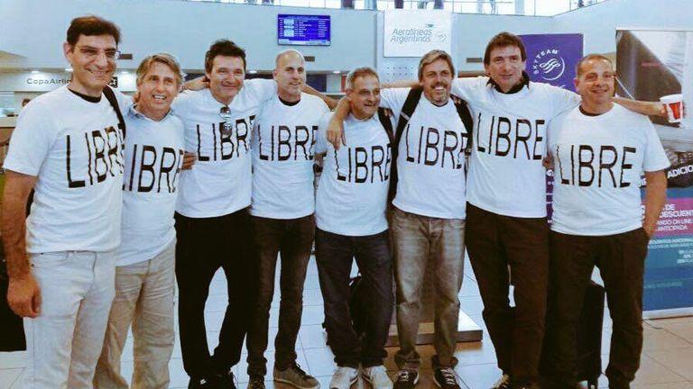 El grupo de rosarinos, antes de viajar a Nueva York